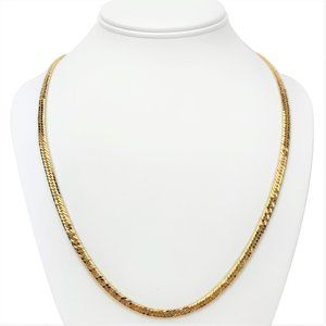 18k Gold 30.5g Solid Heavy Curb Link Necklace